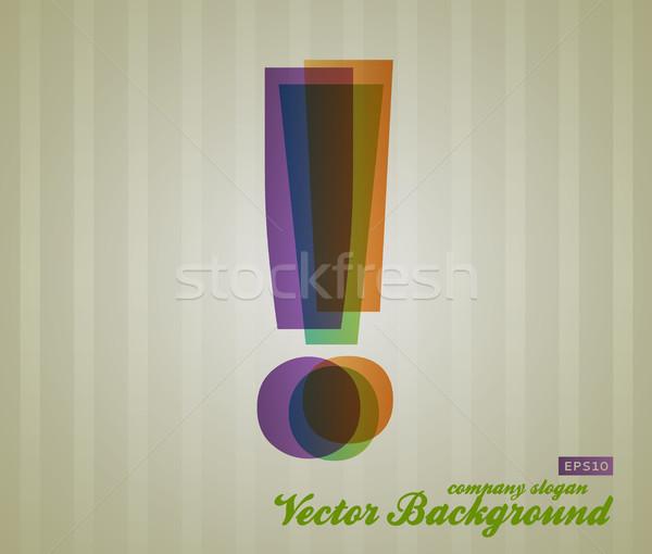 Kolor przezroczystość symbol chrzcielnica retro działalności Zdjęcia stock © Fyuriy