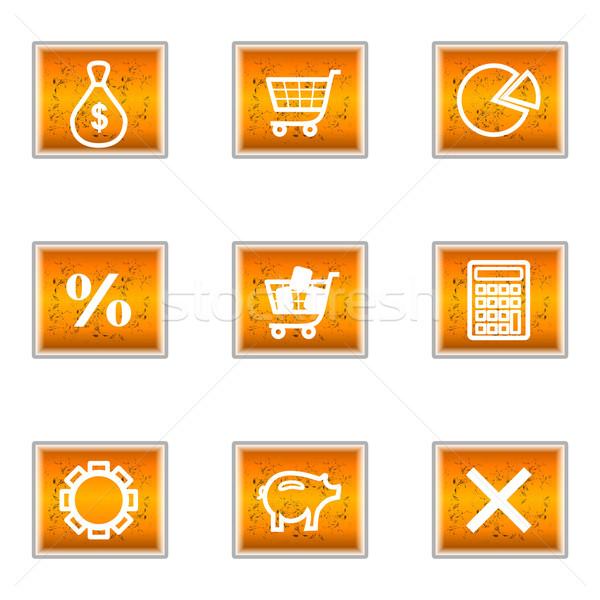 Establecer iconos de la web negocios Internet Foto stock © Fyuriy