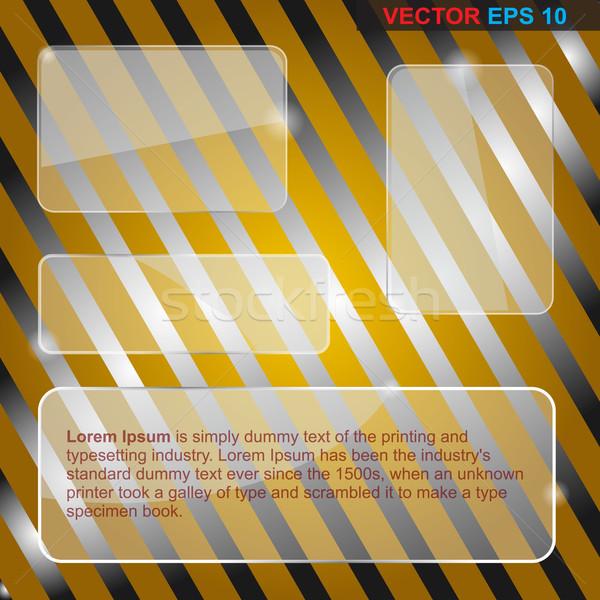 Banners transparant business ontwerp communie textuur Stockfoto © Fyuriy