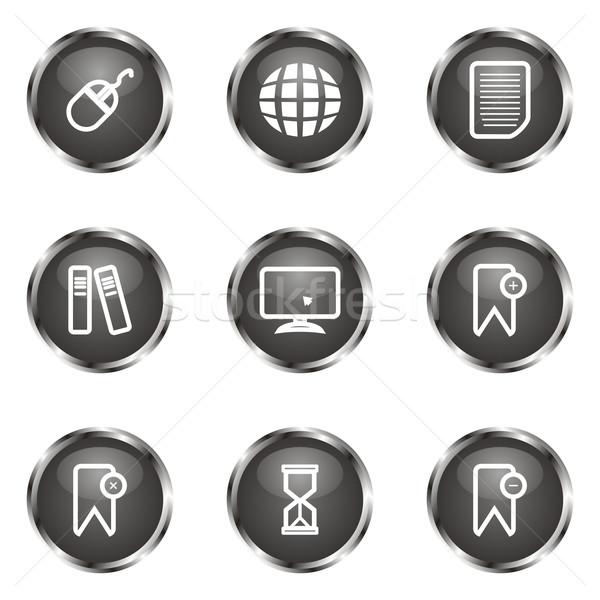 Establecer iconos de la web 22 negro Foto stock © Fyuriy