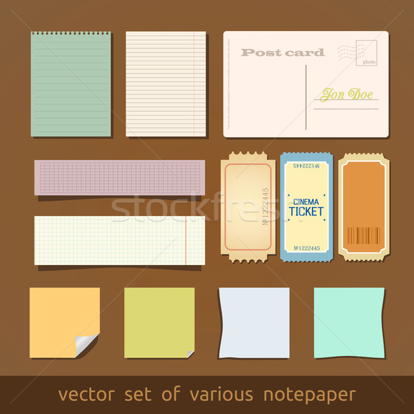 Collection of various notes paper and post card Stock photo © Fyuriy