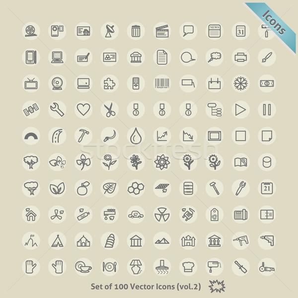 Vettore icone design simbolo raccolta computer Foto d'archivio © Fyuriy