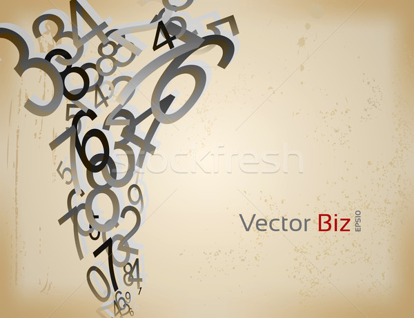 Decorative Vector Numbers Background Stock photo © Fyuriy