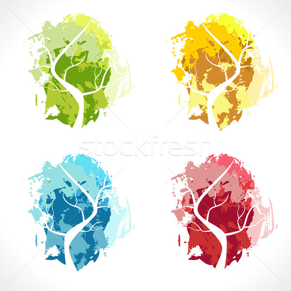Abstract albero colore panorama luce design Foto d'archivio © Fyuriy