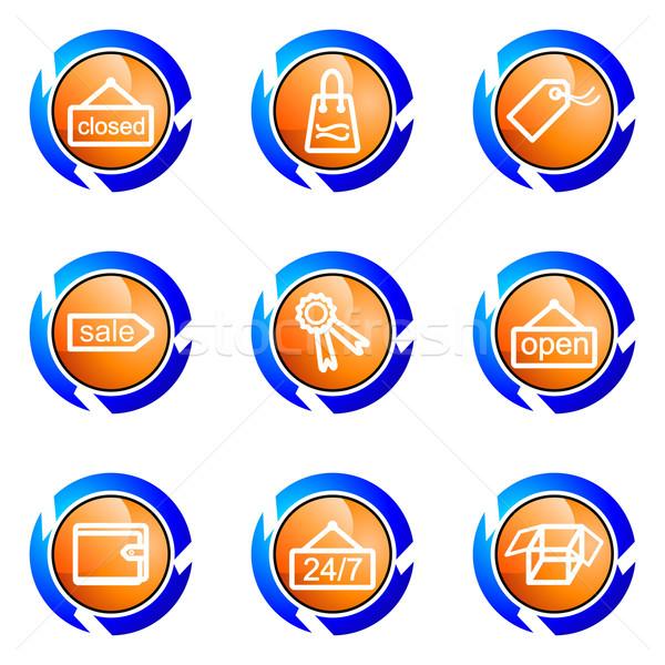 セット webアイコン 孤立した ボタン ストックフォト © Fyuriy