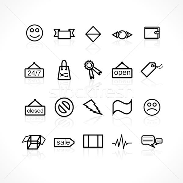 Icons set Stock photo © Fyuriy