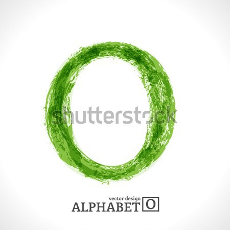 Grunge Vector Letter O Stock photo © Fyuriy