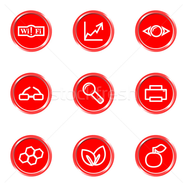 Glossy icons set Stock photo © Fyuriy
