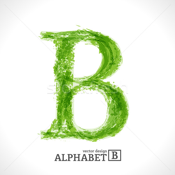 Grunge Vector Letter B Stock photo © Fyuriy