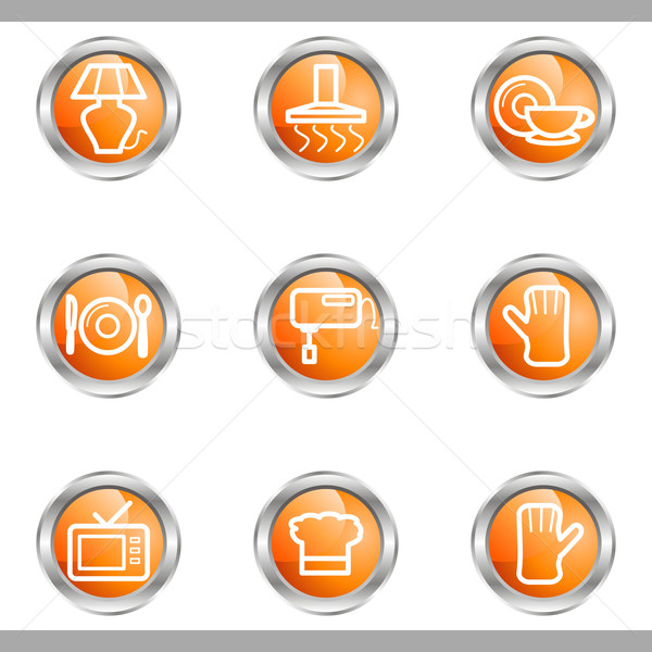 Glossy icon set  Stock photo © Fyuriy