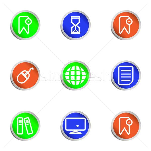 набор веб-иконы 22 цвета Сток-фото © Fyuriy