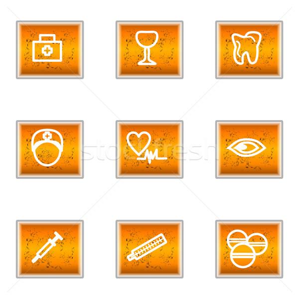 Fényes ikon gyűjtemény szett webes ikonok üzlet internet Stock fotó © Fyuriy