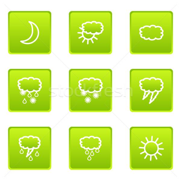 Parlak ayarlamak web simgeleri iş güneş Stok fotoğraf © Fyuriy