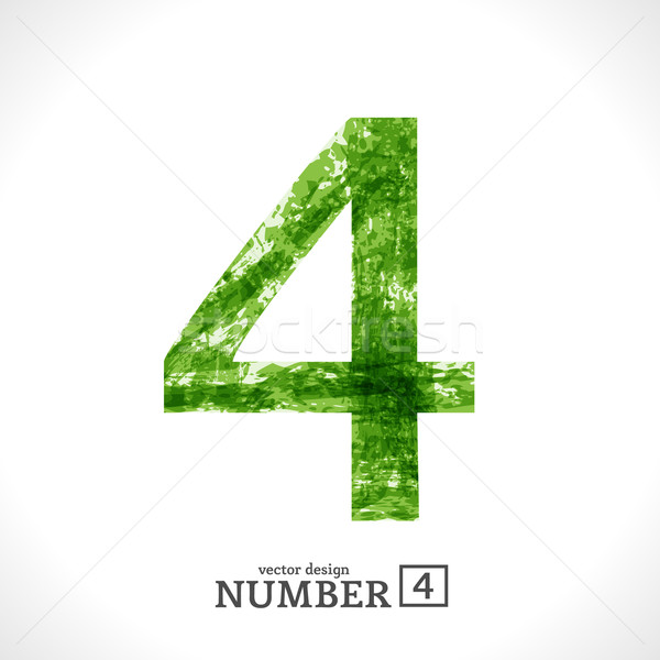 Stock photo: Grunge Vector Number