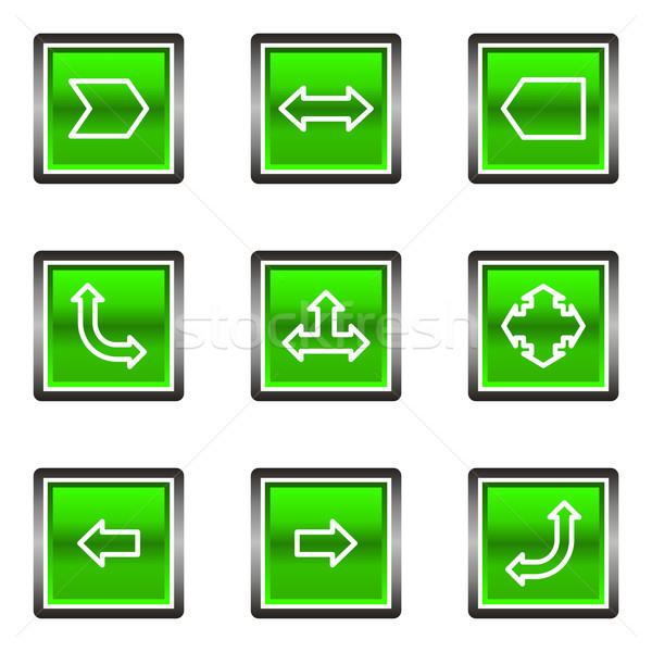 Establecer cuadrados iconos de la web 12 Foto stock © Fyuriy