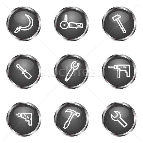 набор веб-иконы 31 черный Сток-фото © Fyuriy