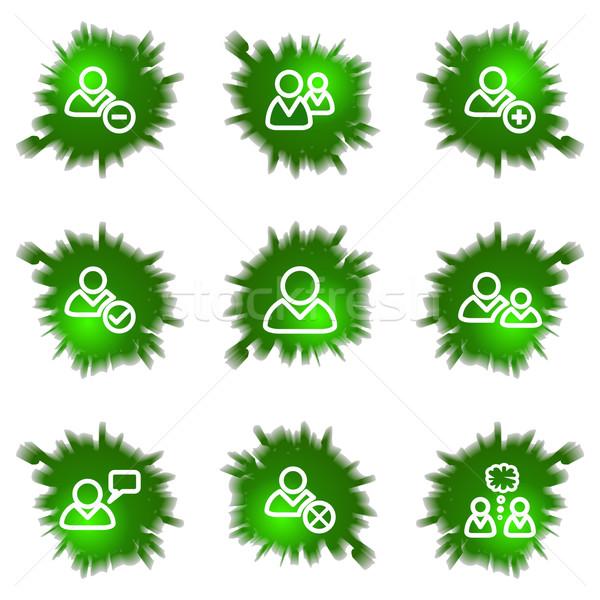 Icons set. Green hole Stock photo © Fyuriy