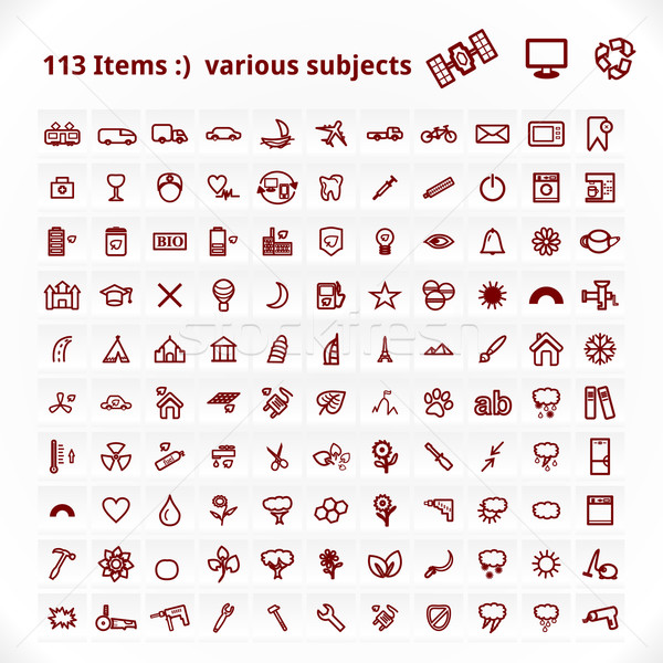 Various Subjects Icons Stock photo © Fyuriy