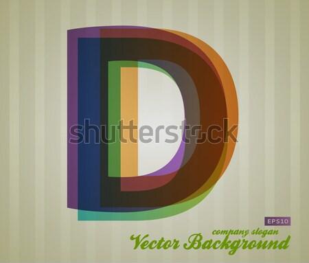 Szín átláthatóság levél retro szimbólum üzlet Stock fotó © Fyuriy