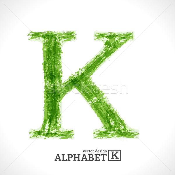 Grunge Vector Letter K Stock photo © Fyuriy