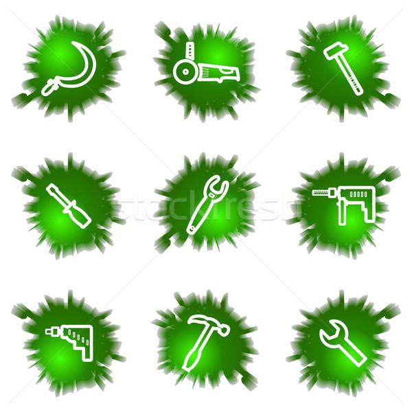 зеленый дыра набор веб-иконы Сток-фото © Fyuriy