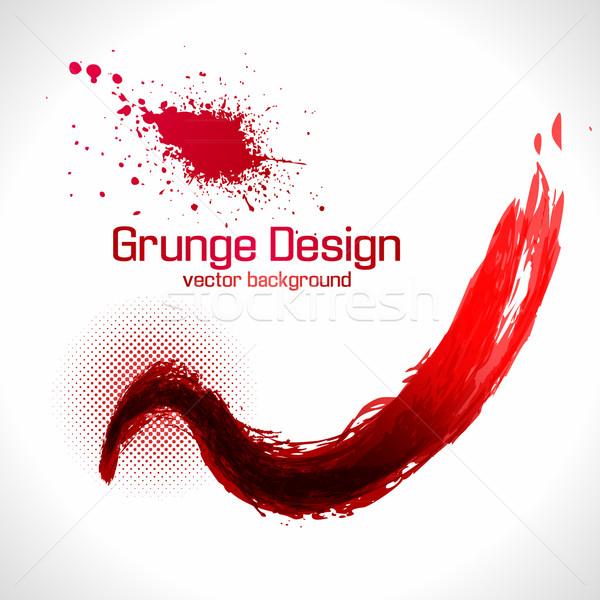 Grunge design abstract onda splash rosso Foto d'archivio © Fyuriy