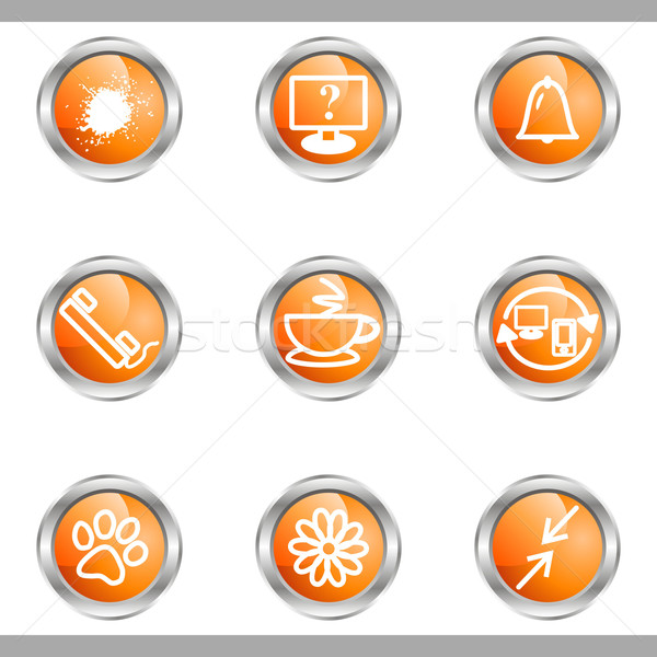 Stock photo: Glossy icon set
