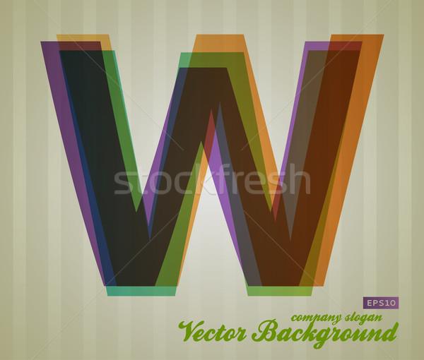 Colore trasparenza lettera retro simbolo business Foto d'archivio © Fyuriy