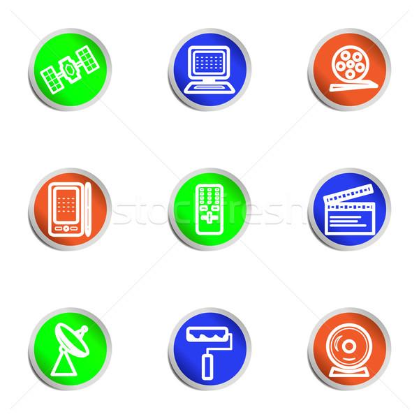 Icônes web couleur cercle Photo stock © Fyuriy