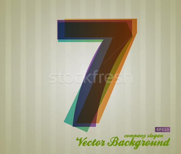 Colore trasparenza numero retro simbolo business Foto d'archivio © Fyuriy