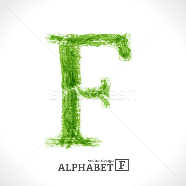Grunge Vector Letter F Stock photo © Fyuriy