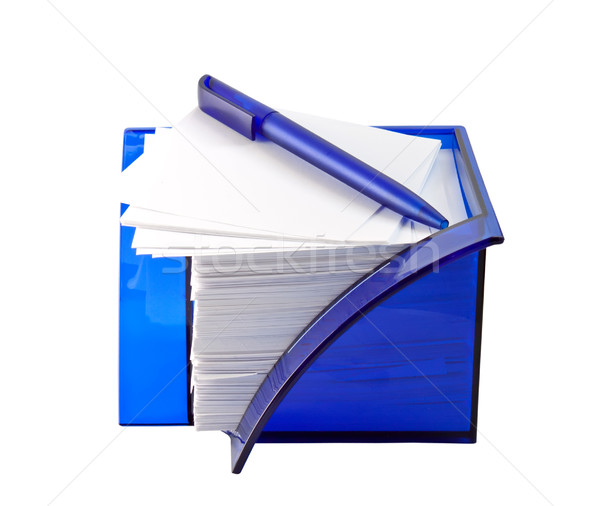 Writing Accessories isolated on a white background. Stock photo © g215