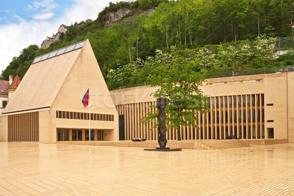 Bina Lihtenştayn ana kare şehir mavi Stok fotoğraf © g215
