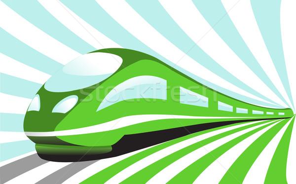 поезд дизайна фон пространстве движения туннель Сток-фото © g215