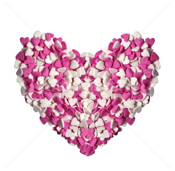 Coeur sucre confiserie forme fond bonbons Photo stock © g215