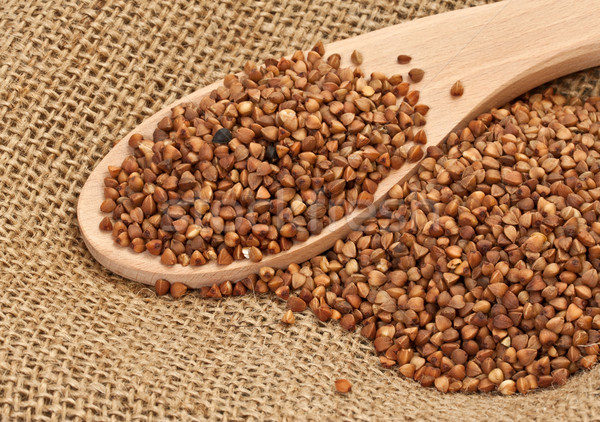 Buckwheat on a sacking Stock photo © g215