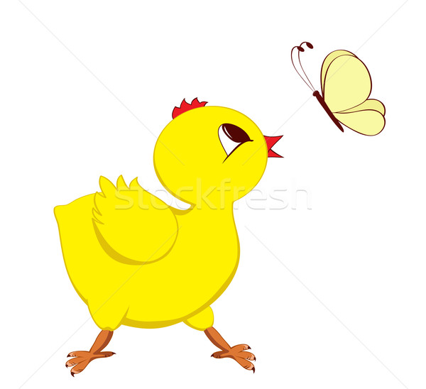 商业照片 / 矢量图: 抽象 · 图像 · 小鸡 · 蝴蝶 · 快乐 · 性质