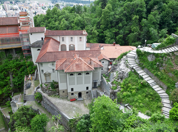 Medieval monastery in Switzerland. Madonna del Sasso Stock photo © g215
