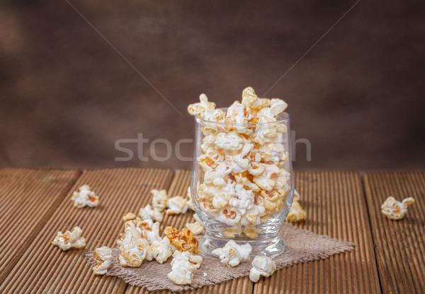 Pipoca vidro laranja filme cinema Foto stock © g215