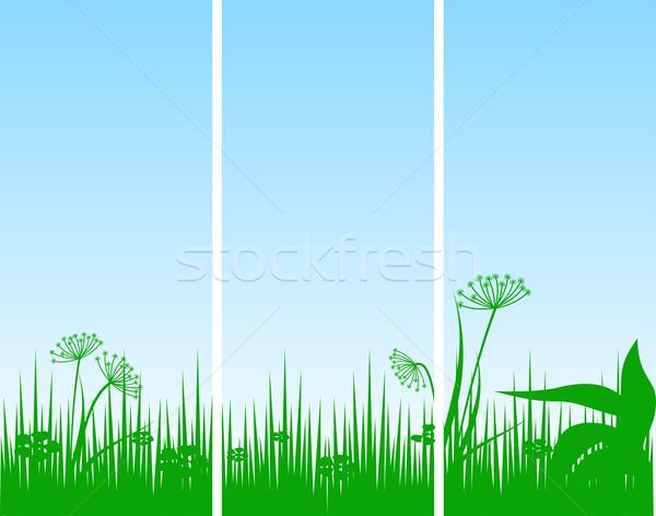 Soyut iş çim ışık teknoloji Stok fotoğraf © g215