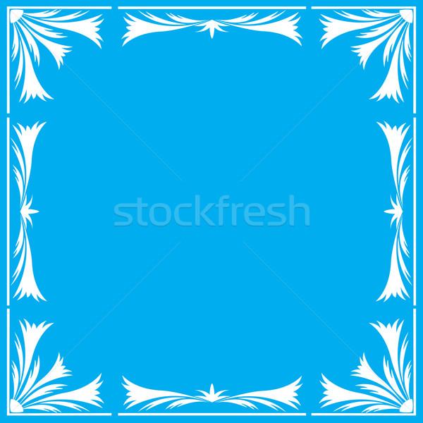 青 フローラル フレーム 抽象的な 葉 背景 ストックフォト © g215