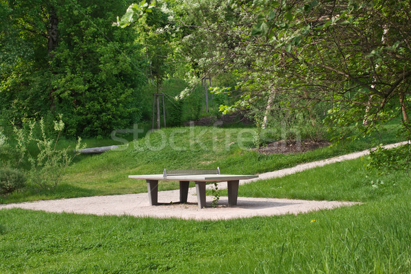 ping pong tables in a public park Stock photo © g215