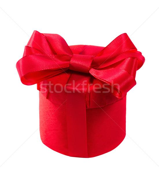 Piros ajándék íj izolált fehér születésnap Stock fotó © g215
