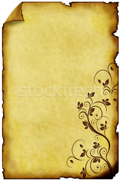 old paper background with ornaments Stock photo © g215