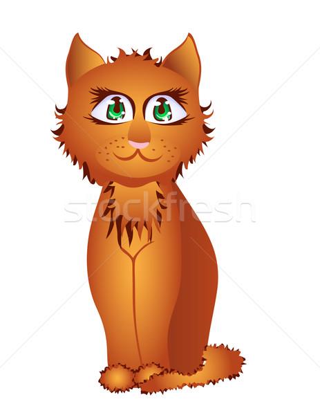 Piros arrogáns macska kiscica sikátor Stock fotó © g215