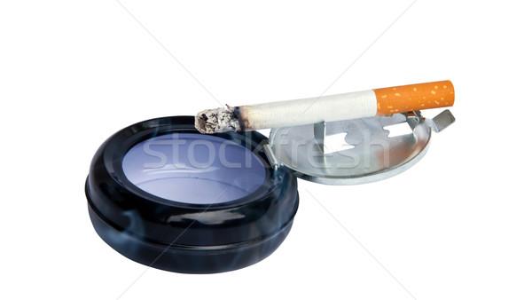 Yanan sigara küllük hukuk kavram kanser Stok fotoğraf © g215
