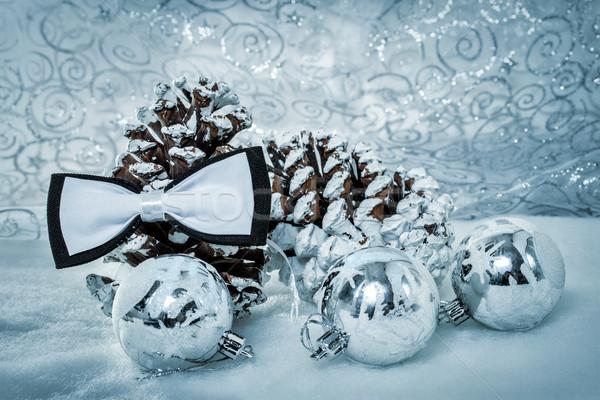Karácsony pillangó nyakkendő buli űr tél Stock fotó © g215