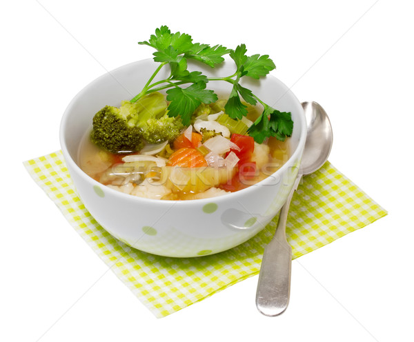 Vegetable soup isolated on a white background Stock photo © g215