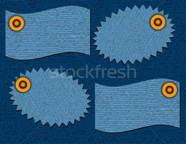 label of denim texture Stock photo © g215