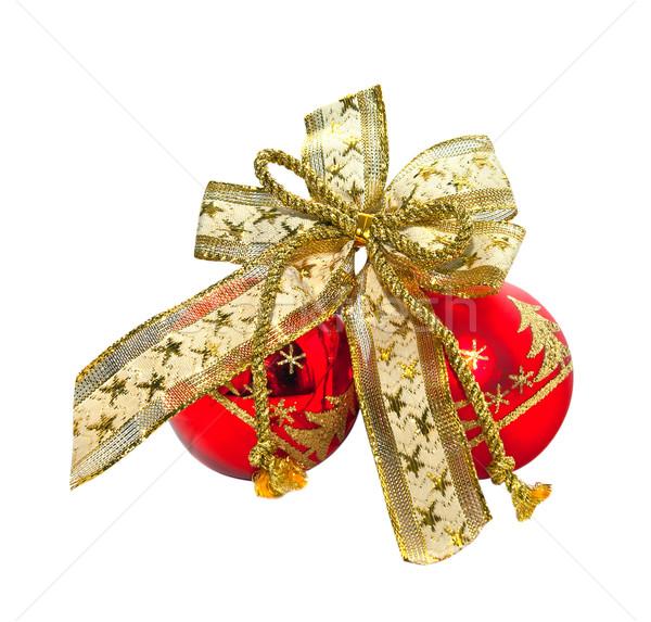 красный мяча лук фон подарок празднования Сток-фото © g215